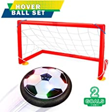 UlaTree Direct Toys, Soccer Goal Set Hover Football with 2 Gates, LED Lights for Kids (2 3 4 5 6 7 8-16 Years)