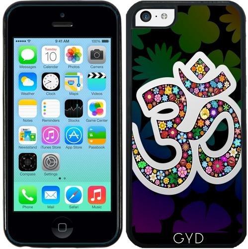 Leder Flip Case Tasche Hülle für Apple iPhone 6 Plus / 6S Plus - Namaste Yoga Floral Symbol by BluedarkArt Silicone