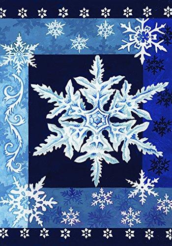 Toland Home Garden 112532 Kalte Schneeflocken Garden Flag, Blau/Weiß (Winter-outdoor-flags Große)
