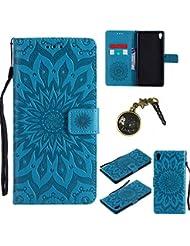 PU Cuir Coque Strass Case Etui Coque étui de portefeuille protection Coque Case Cas Cuir Swag Pour Sony Xperia XA Ultra / C6 (6.0 Pouces) +Bouchons de poussière (4FF)