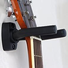 Wall Mount Guitar Hanger Haken, schwarze Gitarre Halterung für Gitarre, Banjo, Bass, Ukulele und etc