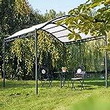 Pureday Garten-Pavillon Eisengestell Creme/schwarz ca. 295 x 300 x 265 cm