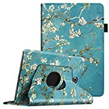 Fintie Samsung Galaxy Tab A 8.0 Rotating Case Cover - Premium Vegan Leather 360 Degree Swivel Stand with Auto Sleep / Wake Feature for Tab A 8-inch Tablet SM-T350, Blossom