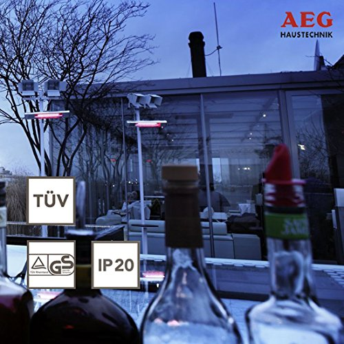 AEG Infrarot-Heizstrahler IR Comfort 2020 W, 2000 W, Goldröhre für Innenbereich, 229952 - 2