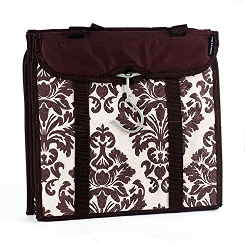 travelon-hanging-handbag-organizer-set-of-2-chocolate-damask-by-travelon