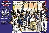 Black Powder Waterloo Französisch Napoleonische Infanterie 1807-1812 - 60 Figur Box mit Fahnen - 28mm Kunststoff Miniaturen