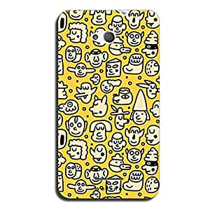 Mozine Faces Pattern Printed Mobile Back Cover For Sony Xperia E4