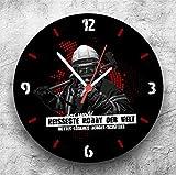 Roter Hahn 112 Hochwertige Feuerwehr Wanduhr Uhr Heisses Hobby/25cm/Geräucharm Test