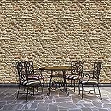 Descargue Paneles DISEÑO 1928P8 pintado pared 4 Redactar Rocas Piedras ladrillos beige 368 x 254 cm