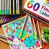 60 Fineliner für Erwachsene und Kinder von Zenacolor - feine Filzstifte 0.4mm von Twinz Products