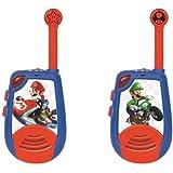 Lexibook- Nintendo Mario Kart-Talkies-Walkies numériques portée 2 km pour Enfant/garçon, Fonction Morse Lumineux, Clip Ceintu