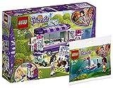 Lego Friends 41332–Emmas rollender Art Kiosque Friends Central–Olivias ferngesteuertes Bateau, cooles enfants jouet