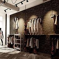 JSLCR Alphabet Bar Retrotapeten Cafe Kleidung Shop Tapeten,Schwarzem Hintergrund, weißer text