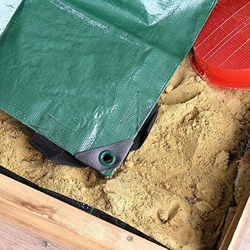 Noor Sandkasten Abdeckplane Plane Abdeckung 150x150cm schützt vor Schmutz und ist wasserundurchlässig