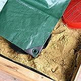 NOOR Zandbak dekzeil 1,50 x 1,50 m I herbruikbare waterdichte afdekking voor zandboxen, beschermt tegen vuil, bladeren en reg