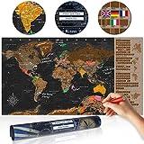 decomonkey | Rubbelweltkarte | 100x50 cm | Weltkarte zum Rubbeln mit Fahnen/ NationalfLaggen | Rubbelsposter | Rubbelkarte | FULL HD | Rubbellack | Rubbelbild | Mehrfarbiger Rubbellack | Scratch Off World | Travel Map | Landkarte | Poster | Weltkarte um Reisen -