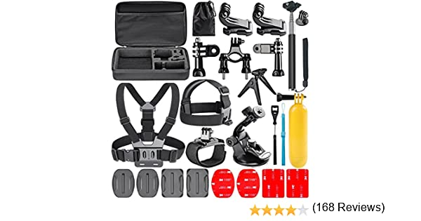 Navitech 50-in-1 Action Camera Accessories Combo Kit with EVA Case Compatible with The Victure AC400 Action Camera