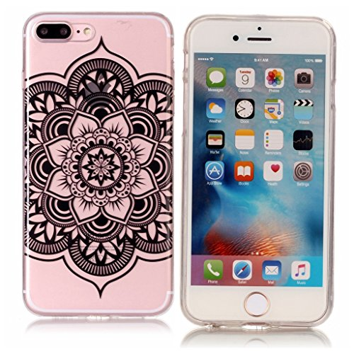 Per iPhone 7 Plus / iPhone 8 Plus Cover , YIGA Fiore di scheletro Cristallo Trasparente Silicone Morbido TPU Case Shell Caso Protezione Custodia per Apple iPhone 7 Plus / iPhone 8 Plus (5,5 pollici) S1