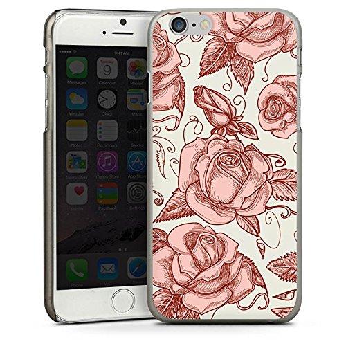 Apple iPhone 5s Housse Étui Protection Coque Roses Roses Roses CasDur anthracite clair
