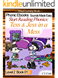 Start Reading Phonics 2.01 (ss) Tess and Jess in a Mess  (Childrens Learning To Read Picture Book)