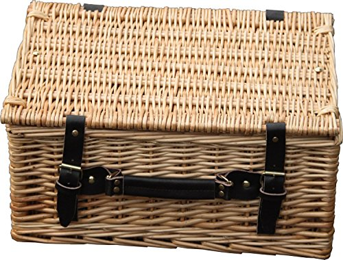 Hay Hampers Medium Empty 16-Inch Lidded Wicker Hamper Basket
