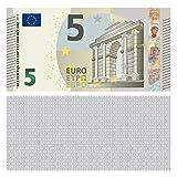 100 Stück Premium 5 Euro Spielgeld Format 88 x 44 mm Geld Banknoten Geldschein Money EUR Größe entspricht 75% des Originals der Eurobanknoten Deutschlands