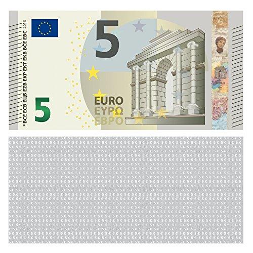 LYSCO® 5 Euro Spielgeld - verkleinert auf 75{4316942221f7d7e136e49d4121144a1711d90d8f1c55ff41d3ec459448e583c6} des Originals, 100 Stück