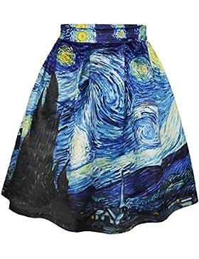 COUSIN CANAL Faldas Largas Mujer Verano Vintage Swing Full Circle Largo Plisadas Vestidos