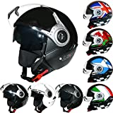 Best NEW Casques de moto - Leopard LEO-612 Casques Jet Casque de Moto avec Review