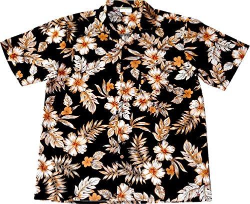 Camisa-Hawaiana-Hombre-Black-Elegance-100-algodn-tamao-2XL