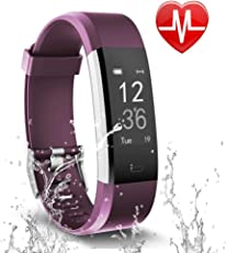 Letsfit FitnessTracker Fitness Armband Schrittzähler mit Pulsmesser Aktivitätstracker Pulsuhren Bluetooth Smart Armband Uhr Schrittzähler mit Schlafmonitor Kalorienzähler Kompatibel mit Smartphone