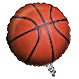 Creative Converting Sports Fanatic Basketball Metallic Balloon, Orange