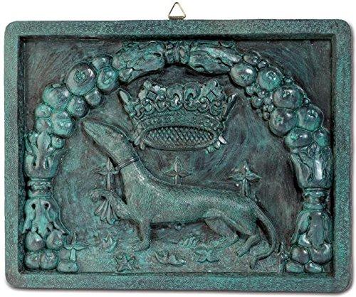 Katerina Prestige Decoración de Pared, diseño de Escudo de Hermina, Color Bronce Verde