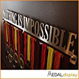 NOTHING IS IMPOSSIBLE | Porta medaglie / Medagliere da parete MEDALdisplay Medal Hanger (600 mm x 90 mm x 3 mm)