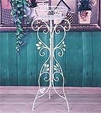 ZENGAI Cremagliera per fioriera Portavasi Interno ed esterno innalzamento Monolayer metallo Anti ruggine bianca Espositore, , Alto 90 cm ]
