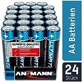 ANSMANN Batterien AA 24 Stück - Alkaline Mignon Batterie ideal für Lichterkette, LED Taschenlampe, Xbox One Controller, Spielzeug, Fernbedienung, Radio, Nachtlicht - umweltschonende Verpackung