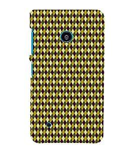Fiobs Designer Phone Back Case Cover Nokia Lumia 530 :: Nokia Lumia 530 RM 1017 :: Nokia Lumia 530 Dual SIM :: Microsoft Lumia 530 Dual ( Colorful Pattern Design Purple Yellow )
