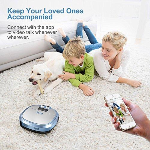 xshuai c3 staubsaugerroboter mit siri und amazon alexa sprachsteuerung kamera f r video chat. Black Bedroom Furniture Sets. Home Design Ideas