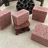 Leoie DTY - Molde de jabón Hecho a Mano, Doble Puerta, Caja de Madera y Molde de Silicona con Figura de Rosa