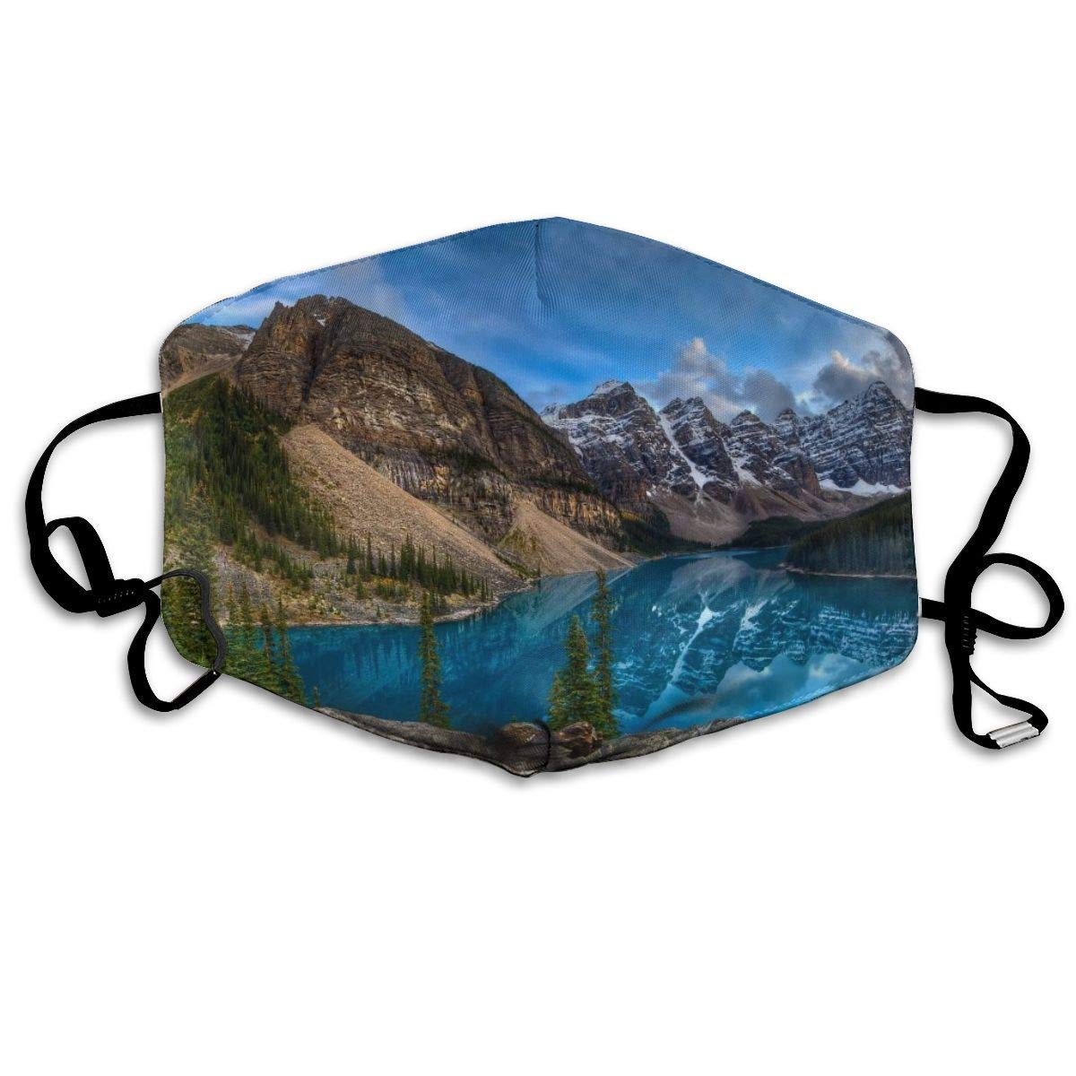 Bdwuhs Mascarillas Bucales,Boca Máscara Dust Mask for Women and Men Rocky Mountains Printed Foldable Mask Face Mask Anti-Dust Mouth Mask