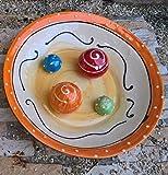 Anti Schling Napf Napf für Hunde groß Keramik Handarbeit in orange