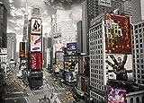New York - Times Square 2 Städte Riesenposter - Grösse 140x100 cm