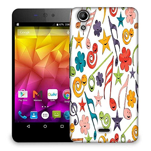 Snoogg Smiley Strings Designer Protective Phone Back Case Cover For Micromax Canvas Selfie Lens Q345  available at amazon for Rs.299
