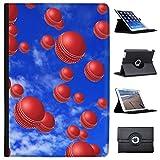 Es regnet Cricketbälle Case Cover / Folio aus Kunstleder für das Apple iPad Pro 10.5