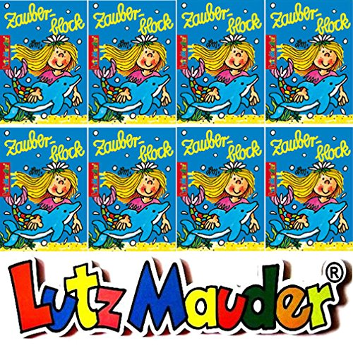 8 ZAUBERBLÖCKCHEN * NIXE SINA SEESTERN * im Set mit je 24 Seiten in DIN A8 von Lutz Mauder // Mitgebsel Kindergeburtstag Malbuch Meerjungfrau Seamaid (A8 Meerjungfrau)