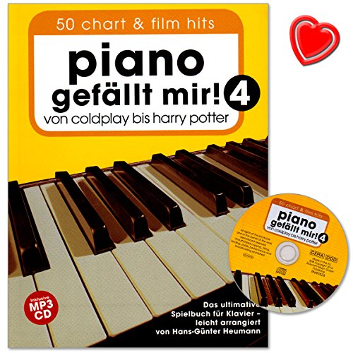 Piano gefällt mir Band 4 mit CD - 50 Chart und Film Hits von Coldplay bis Harry Potter. Das ultimative Spielbuch für Klavier mit bunter herzförmiger Notenklammer (Sam Smith Stay With Me Cd)