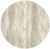 Werzalit Tischplatte, Dekor Ponderosa weiß 80 cm rund wetterfest Ersatztischplatte Bistrotisch Stehtisch Tisch Gastronomie