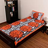 eCraftIndia Floral Design Cotton Single ...