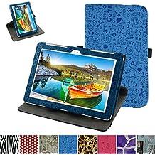 """Asus Z300M / Z300C Rotación Funda,Mama Mouth 360° Rotación PU Cuero Con Soporte Funda Caso Case para 10.1"""" Asus ZenPad 10 Z300C Z300CG Z300CL Z300CNL Z300M Android Tablet,Azul"""