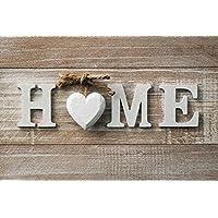 ID mate Home corazón Boston, fibra sintética, beige marrón, 50x 80x 0,5cm)